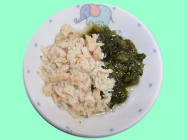とりササミと小松菜の煮物