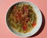 ブロッコリーとトマトの塩味煮